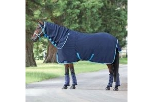 Shires Jersey Cooler Combo-Navy/Bright Blue 6'3