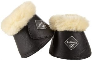 LeMieux Wrapround Over Reach Boots Black/Natural