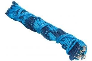 Shires Deluxe Hay Net Navy/Baby Blue