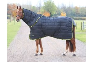 Shires Tempest Original 300g Heavyweight Combo Stable Rug & Neck Set Black/Lime