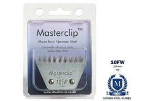 Masterclip 10FW 1.6mm Fine A5 Royale Clipper Blades also available in medium, fine and superfine cut fits Liveryman Harmony Avalon Moser Oster Andis (wide body blade)