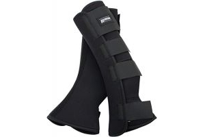 ROMA NEOPRENE LEG WRAPS BLACK PONY-COB