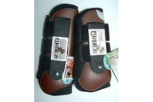 Eskadron Cross Country WB/VB Set of 4 Front and Rear Flexisoft Tendon Boots Brown