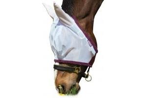 Horseware Amigo Finemesh Flymask Silver/Purple