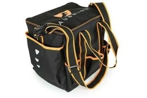 SHIRES AUBRION GROOMING KIT BAG BLACK/ORANGE