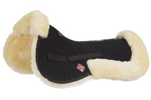 LeMieux Prolambskin Half Pad Large: Natural & Black