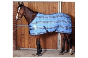 Saxon PP Stable Standard Neck Medium Grey/Blue Plaid 60