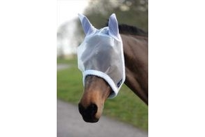 Saxon Weatherbeeta Fly Mask-Full White