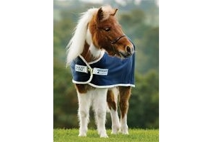 Amigo Horseware Petite Jersey Cooler Rug - Navy/Silver: 3ft3