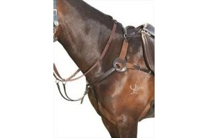 Kincade Leather 5 Point Breastplate-Full Brown