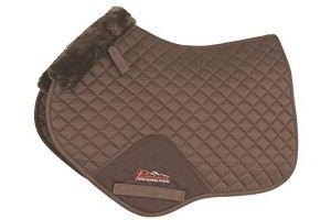 Shires Performance SupaFleece Jump Saddlecloth-Brown Full