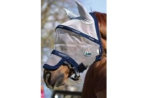 Horseware Rambo Fly Mask Plus Vamoose Cob Silver/Navy