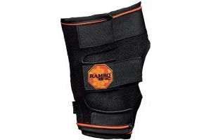 Horseware Rambo Ionic Hock Boot Full Black/Black & Orange