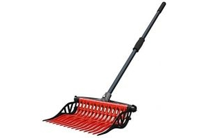Noble Outfitters Wave Fork Manure Pooper Scooper Lightweight Red 41106