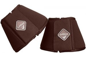 LeMieux Soft Shell Over Reach Boots - Brown, Large