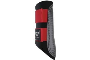Woof Wear Club Brushing Boot Black/Red Medium