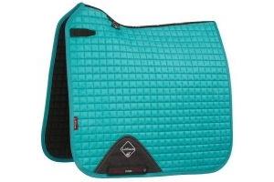 LeMieux ProSport Suede Dressage Square Saddle Pad Turquoise