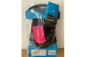 Shires Arma Fetlock Boots - Black/Pink - Cob/Full