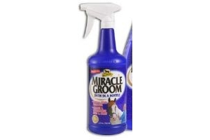 Absorbine 32 Fl Oz Miracle Groom Bath in a Bottle Spot and Stain Remover Cleans and Conditions No Watr Needed by Absorbine
