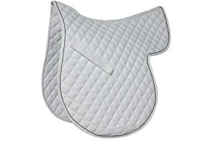 Roma Grand Prix High Wither All Purpose Numnah (White/Black, Warmblood)