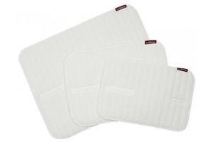 LeMieux Unisex's Memory Foam Bandage Pads Pair, White, Medium