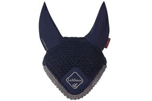LeMieux Classic Fly Hood-Navy/Grey-Medium