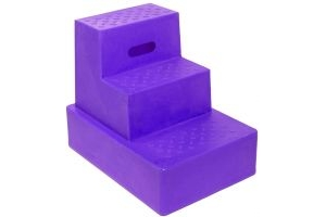 Classic Showjumps Standard 3 Step Mounting Block Purple