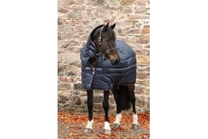 Horseware Amigo Insulator All-In-One 350g Heavy Weight Combo Neck Stable Rug Navy/Plum/Silver