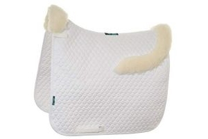 Griffin Nuumed HiWither Everyday with Front And Back Collars Dressage Saddle Pad Large white