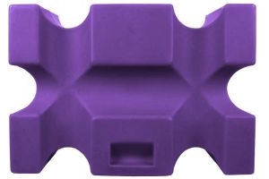 Classic Showjumps Single Parallel Jump Block Purple
