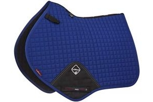 LeMieux ProSport Lustre/Suede Close Contact Square (D-Ring) - Benetton Blue, Large