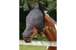 equilibrium Field Relief Max Fly Mask-Black/Red S (pony- 13.2hh - 14.2hh)