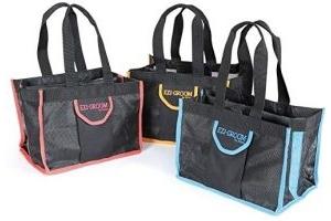 Shires Ezi-Groom Spick & Span Kit Bag - 1512, Black and Pink, One Size