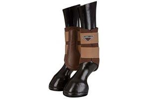 LeMieux Unisex's ProSport Grafter Brushing Boots Pair, Caramel, Medium