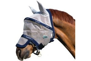 Horseware Rambo Plus Fly Mask Vamoose Silver/Navy