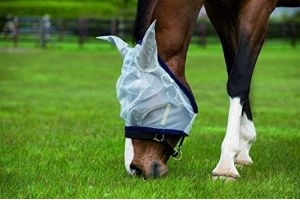 Horseware Amigo Finemesh Fly Mask Size Horse Accessories VB, silver/navy