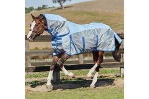Weatherbeeta ComFiTec 600D/Mesh Pony Rug-Silver-4ft6