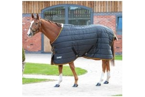 Shires Tempest Original 300 Heavy Weight Standard Neck Stable Rug Black/Orange