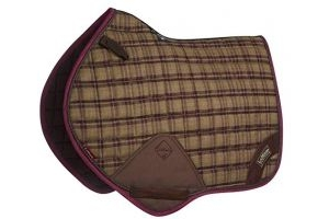 LeMieux Unisex's Heritage Close Contact Square Saddlepad, Plum, Large