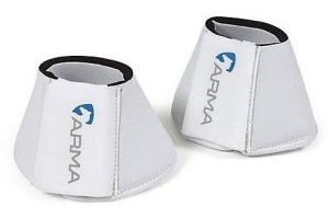 Shires ARMA Neoprene Over Reach Boots-White Cob
