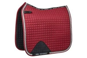 Weatherbeeta Prime Bling Dressage Saddle Pad - Maroon: Pony