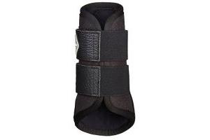LeMieux Micropore Brushing Boots - Black, Medium