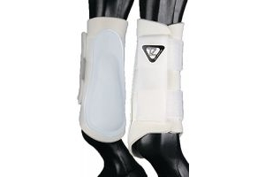 equilibrium Unisex's Tri-Zone Brushing Boots-White, Large