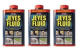 3 x Jeyes Fluid Multi-Purpose Disinfectant Outdoor Cleaner Drain Patio Path 1L