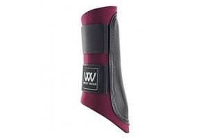 Woof Wear Club Brushing Boot - Burgundy/Black, Medium by Woof Wear