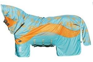 Horseware Amigo 3 in 1 Evolution Disc Front Fly Rug 6ft0 Aqua/Orange & Aqua