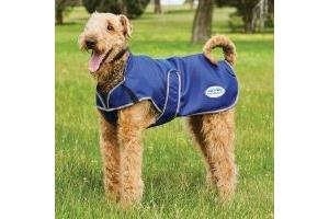 WeatherBeeta ComFiTec Premier Free Parka Deluxe 220g Medium Weight Dog Coat Dark Blue/Grey/White