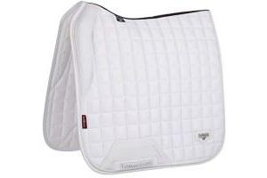 LeMieux Unisex's Loire Memory Satin Dressage Square White Saddle Pad, Large