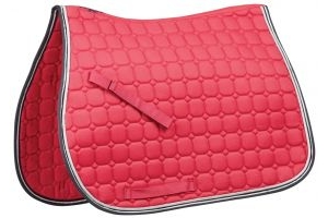 Saxon Co-ordinate Quilted All Purpose Saddle Pad Pink/Navy/White