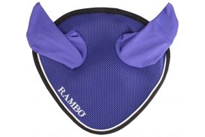 Horseware Rambo Airtech Ear Net Royal Blue/Black Silver